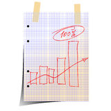 Office paper. This illustration can be used for your design Royalty Free Stock Images
