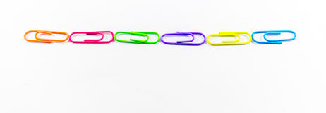 Office paper clips. Isolated on white background Royalty Free Stock Images