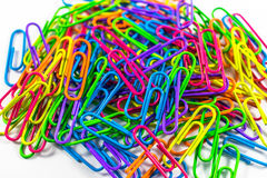 Office paper clips. Isolated on white background Stock Images