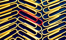 Office paper clips Stock Images