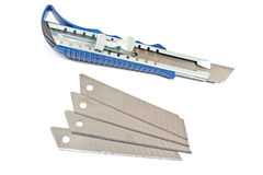 Office paper cutter knife with blades Royalty Free Stock Photography