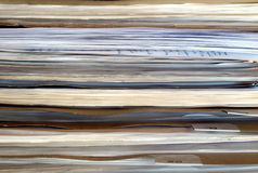 Office paper documents. In a folder royalty free stock images