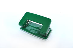 Office paper hole puncher. On white background Stock Photo