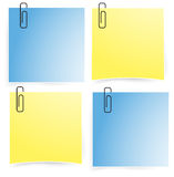 Office paper notepad on the wall icon set (vector) Stock Photography