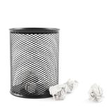Office paper trash bin isolated Royalty Free Stock Images
