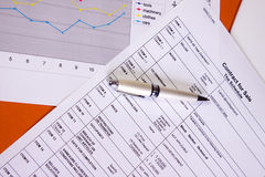 Office papers Royalty Free Stock Photo