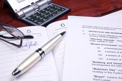 Office papers Royalty Free Stock Images