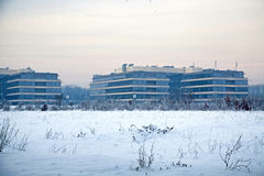 Office park. View of a office park in winter stock photography