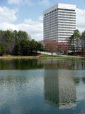 Office Park. Small pond at a office park stock photos