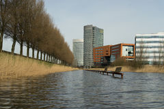 Office park. Part of a office park in Hoofddorp, the Netherlands stock images