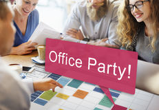 Office Party Celebrate Entertainment Social Concept Royalty Free Stock Images