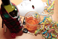 Office party drink and drive Stock Photo