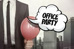 Office party text on speech bubble Stock Image