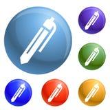 Office pen icons set vector stock illustration