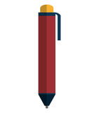Office pen isolated flat icon. Stock Image