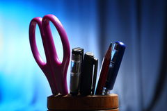 Office: Pencil Holder with Contents Royalty Free Stock Photos