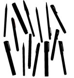 Office Pens Silhouette Royalty Free Stock Photography