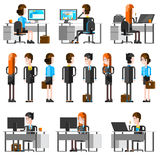 Office People Cartoon Icons Set Royalty Free Stock Image