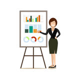 Office people concept vector illustration in flat style Royalty Free Stock Photography