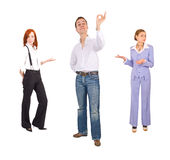 Office people gestures Stock Image