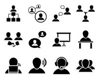 Office and people icon set Stock Photos