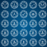 Office and people icon set. EPS 10 vector illustration with transparency royalty free illustration