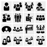 Office people icons set. Office people icons set  on grey background.EPS file available Royalty Free Stock Photos