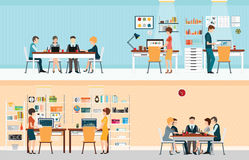 Office people with office desk Stock Images