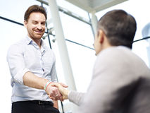 Office people shaking hands Stock Image