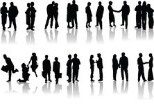 Office people silhouettes Royalty Free Stock Photos