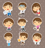 Office people stickers Stock Photography