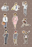 Office people stickers Stock Images