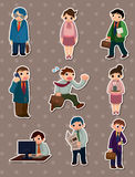 Office people stickers Stock Image