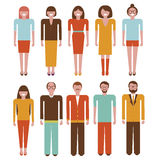 Office peoples set Vector illustrations Stock Photo