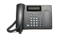 Office phone. Isolated on the white  background Stock Photography
