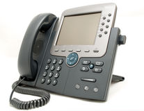 Office phone. Isolated on the white background