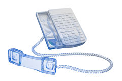 Office phone - blue and black isolated Royalty Free Stock Photography