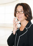 Office Phone Call With Businesswoman Royalty Free Stock Photography