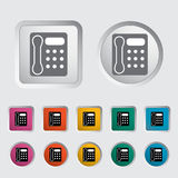 Office phone icon. Stock Photography