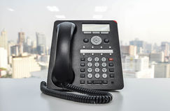 Office Phone - IP Phone technology for business Royalty Free Stock Photos