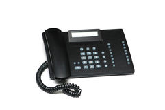 Office phone isolated on the white  background Stock Images