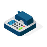 Office phone isometric vector illustration. Royalty Free Stock Photos