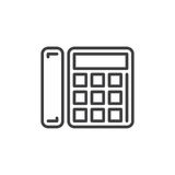 Office phone line icon, outline vector sign Royalty Free Stock Images