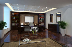 Office Photorealistic Render Stock Image