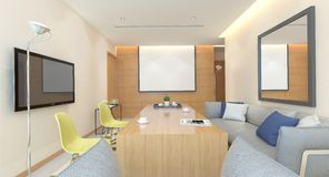 Office Photorealistic Render Stock Images