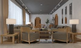 Office Photorealistic Render Royalty Free Stock Images