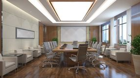 Office Photorealistic Render Royalty Free Stock Photos