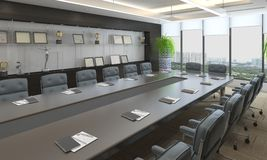 Office Photorealistic Render Royalty Free Stock Image