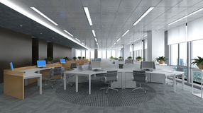 Office Photorealistic Render Royalty Free Stock Photo
