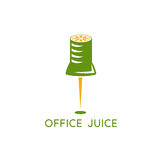 Office pin with slice of lemon vector design Stock Images